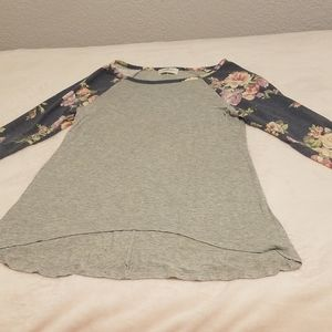 Floral long sleeved T-shirt